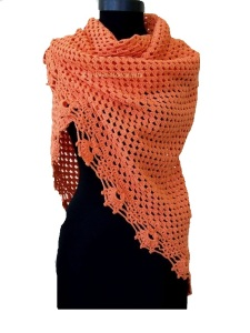 Chal Naranja crochet