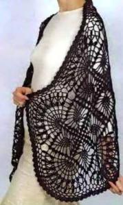 Estola Chal tejido Crochet
