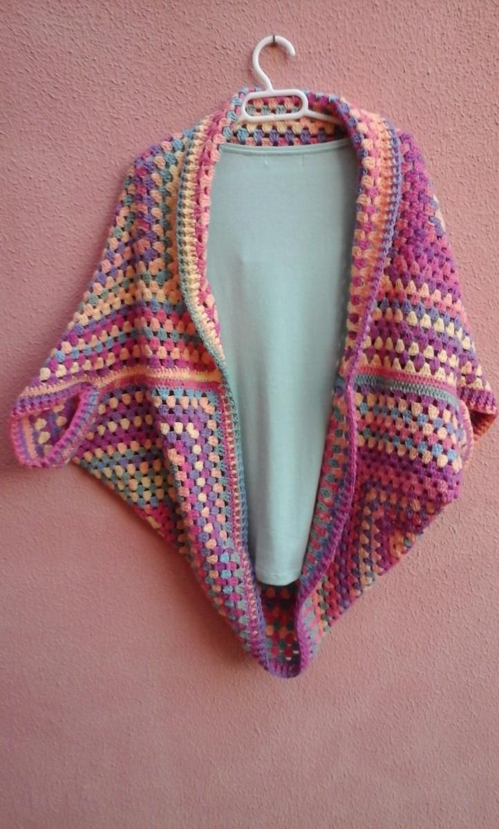 Chaqueta fácil crochet – Enganchada al Ganchillo