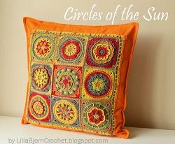 Circles of the Sun_ready pillow